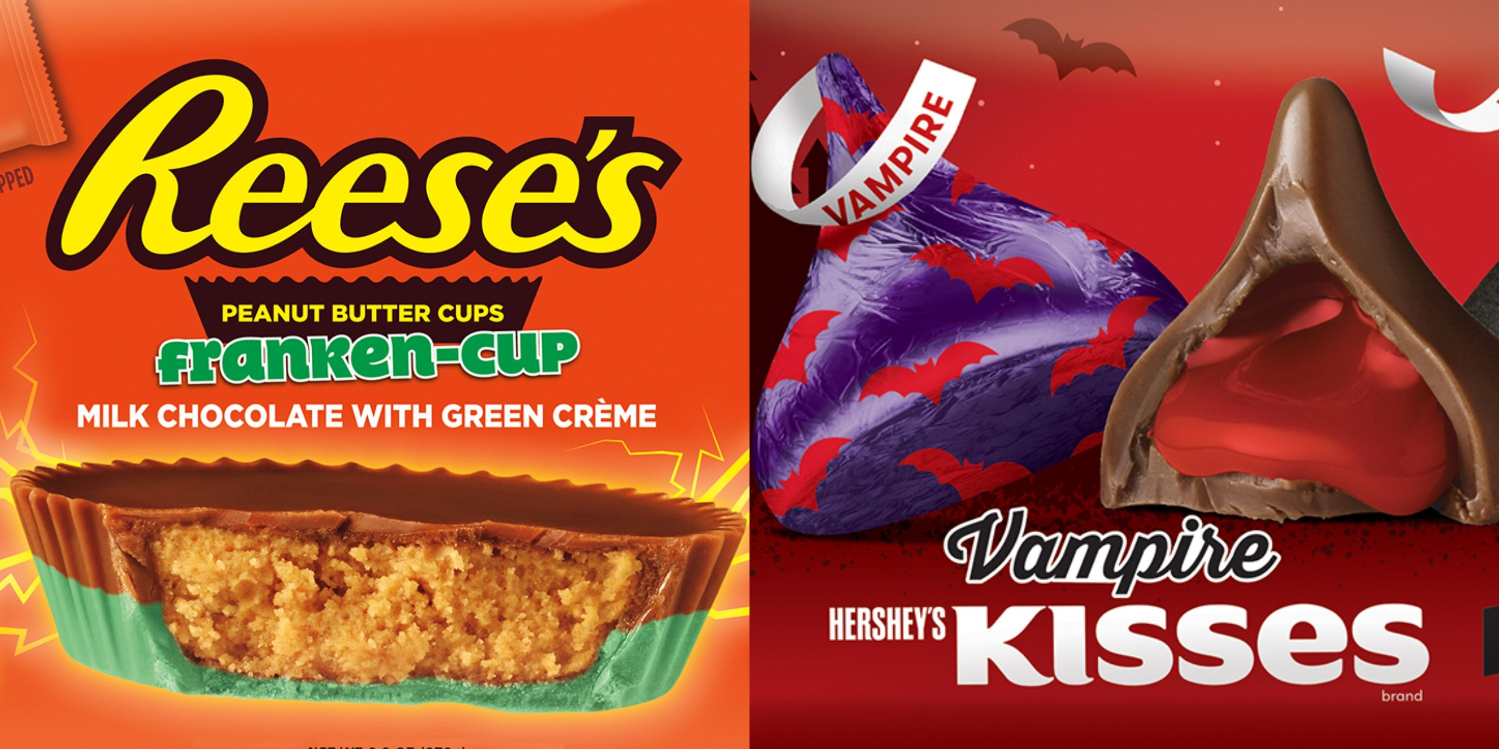 My Candy Love 2020 Halloween Hershey's Halloween Candy 2020: Reese's Franken Cup, Vampire Kisses