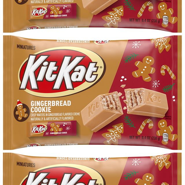 hershey's kit kat gingerbread cookie 2021 holiday candy