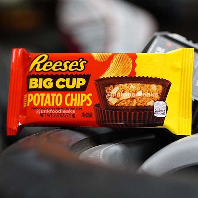 hershey's reese's big cup with potato chips