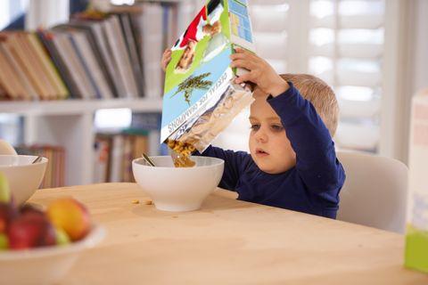 he's making his own breakfast