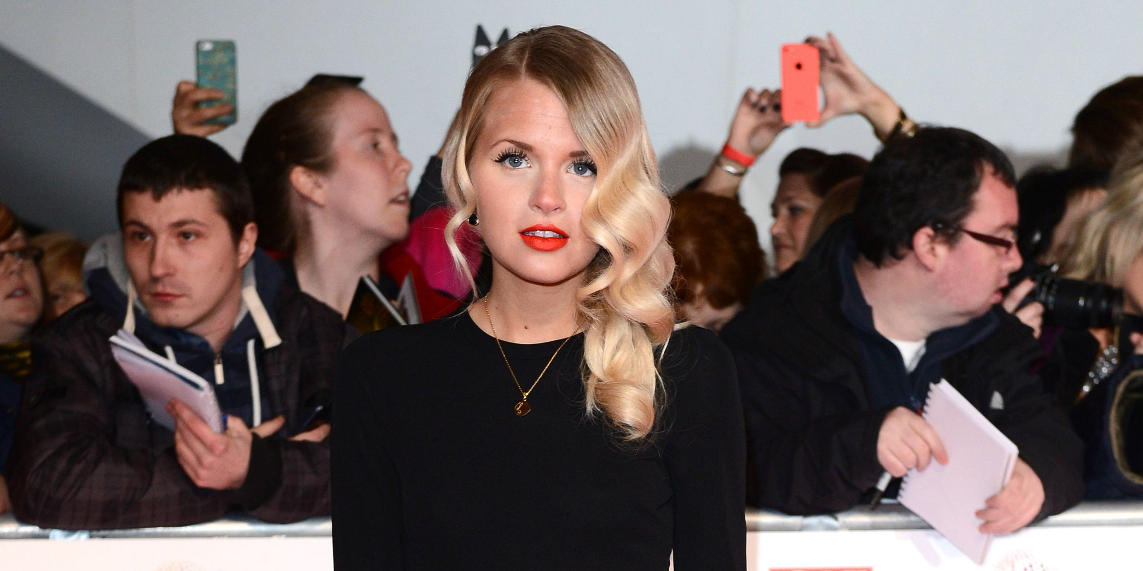 Hetti Bywater at the National TV awards 2014