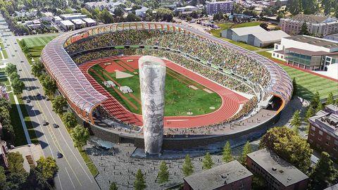 rendering of new Hayward Field