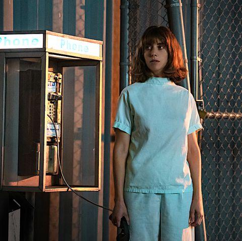Blue, Standing, Shoulder, Door,