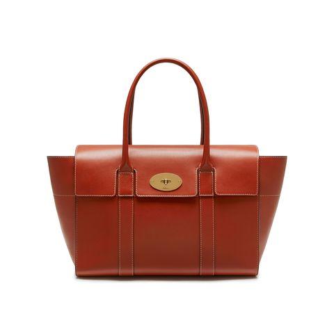 Handbag, Bag, Leather, Fashion accessory, Product, Orange, Brown, Tan, Tote bag, Material property,
