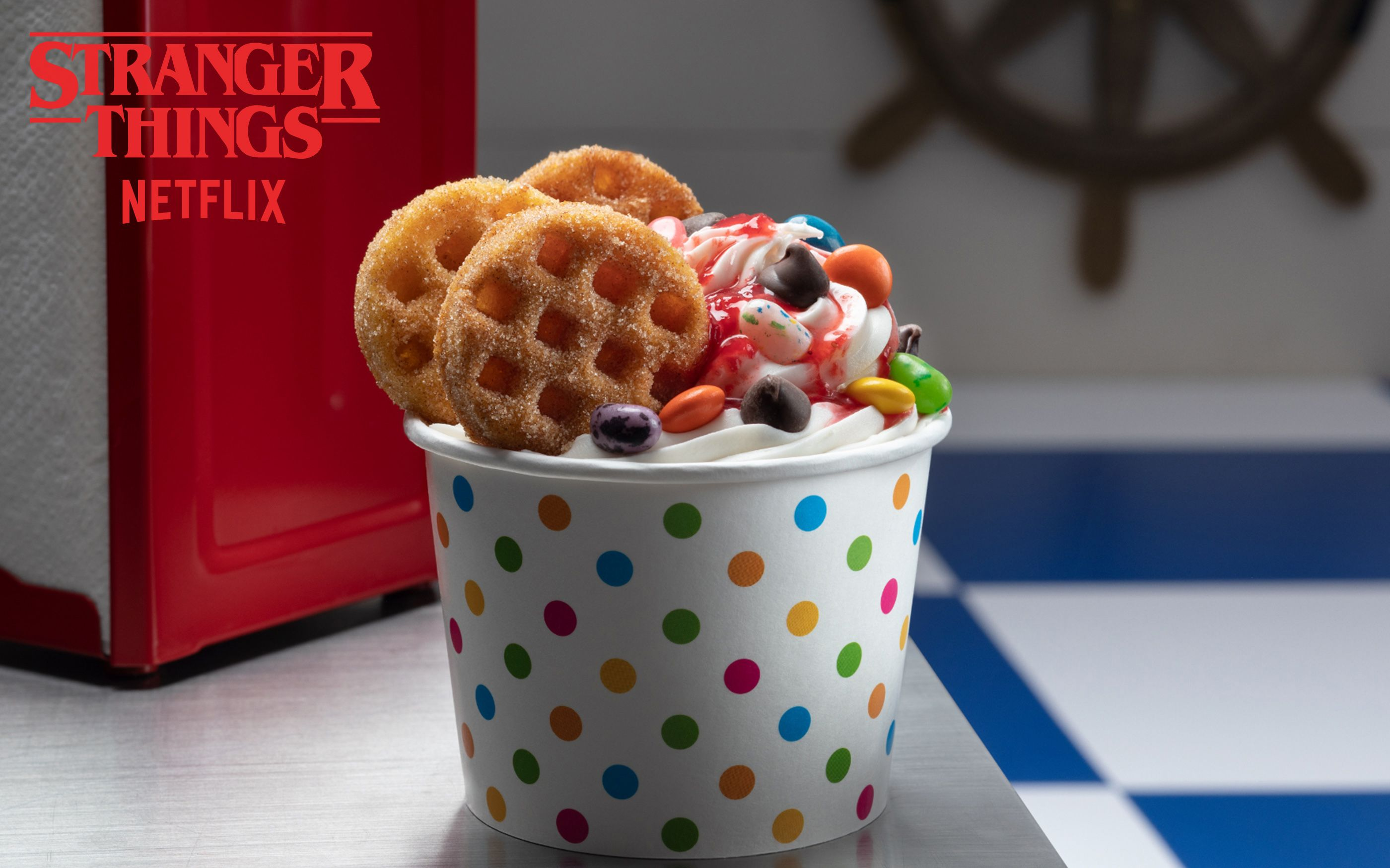 Halloween Horror Nights Has A 'Stranger Things' Waffle Sundae And A Burger Filled With Hot Cheetos