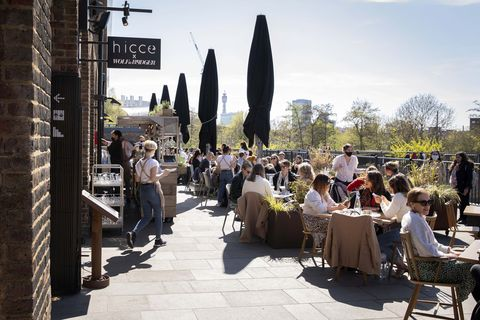 hicce restaurant  terrace kings cross london pip lacey dishes drinks cocktails summer