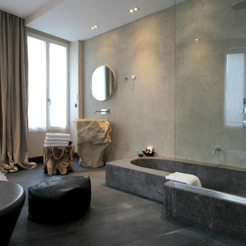 Bathroom, Room, Property, Interior design, Bathtub, Floor, Building, Tile, House, Architecture,