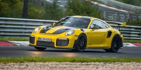 Land vehicle, Vehicle, Car, Supercar, Sports car, Yellow, Performance car, Automotive design, Porsche 911 gt3, Porsche,