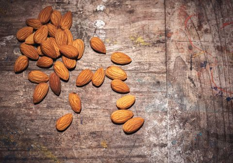 almonds: foods high in protein