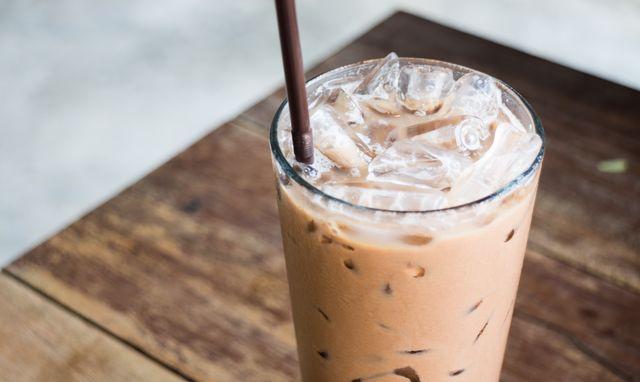 eiwitrijke ijskoffie met whey