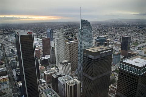 High Angle View of Downtown Los Angeles