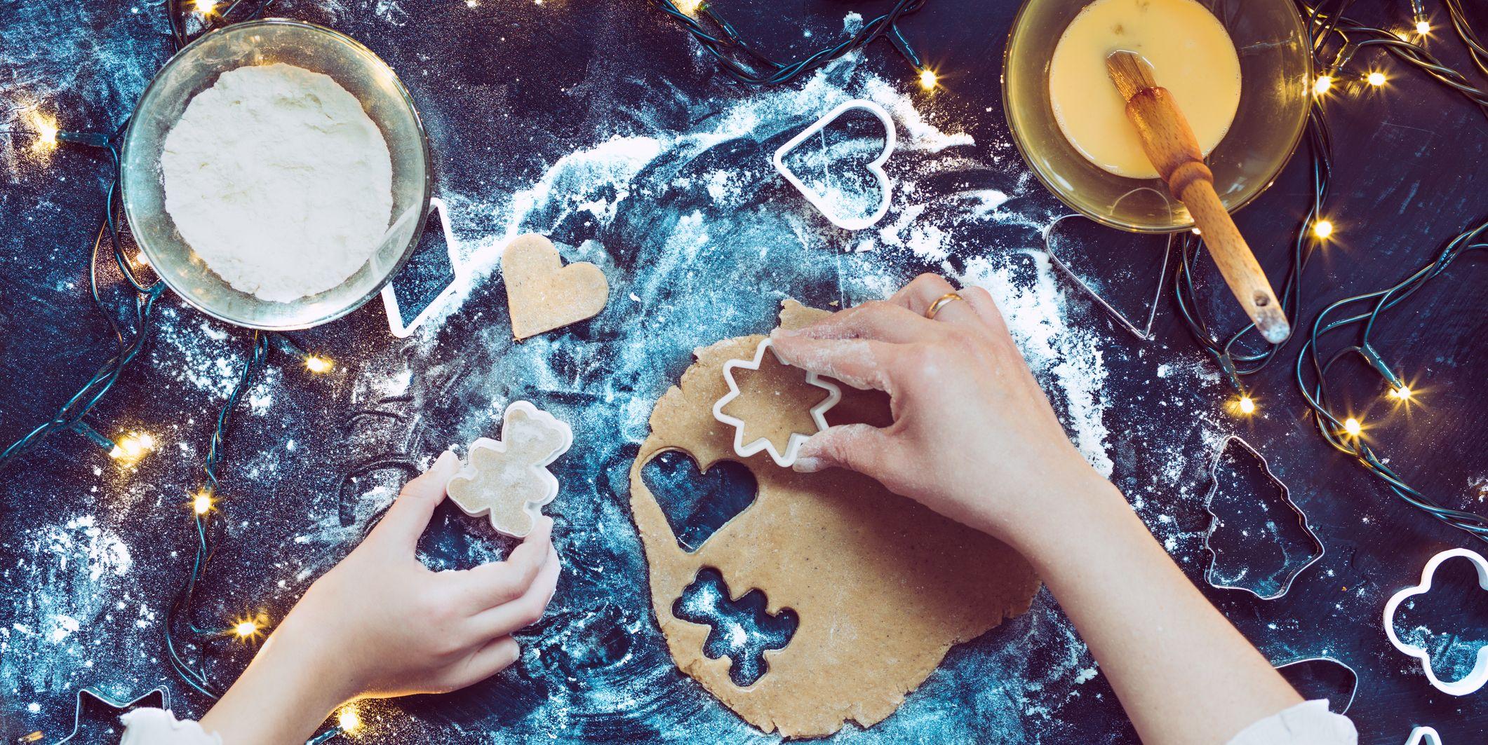 Hands Making Christmas Cookies