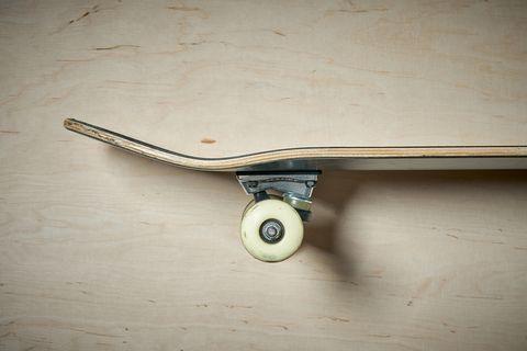 High Angle View Of Skateboard On Table