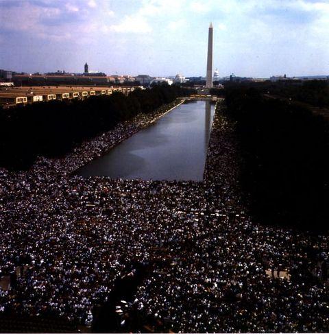 1963年のワシントン大行進のナショナル・モール