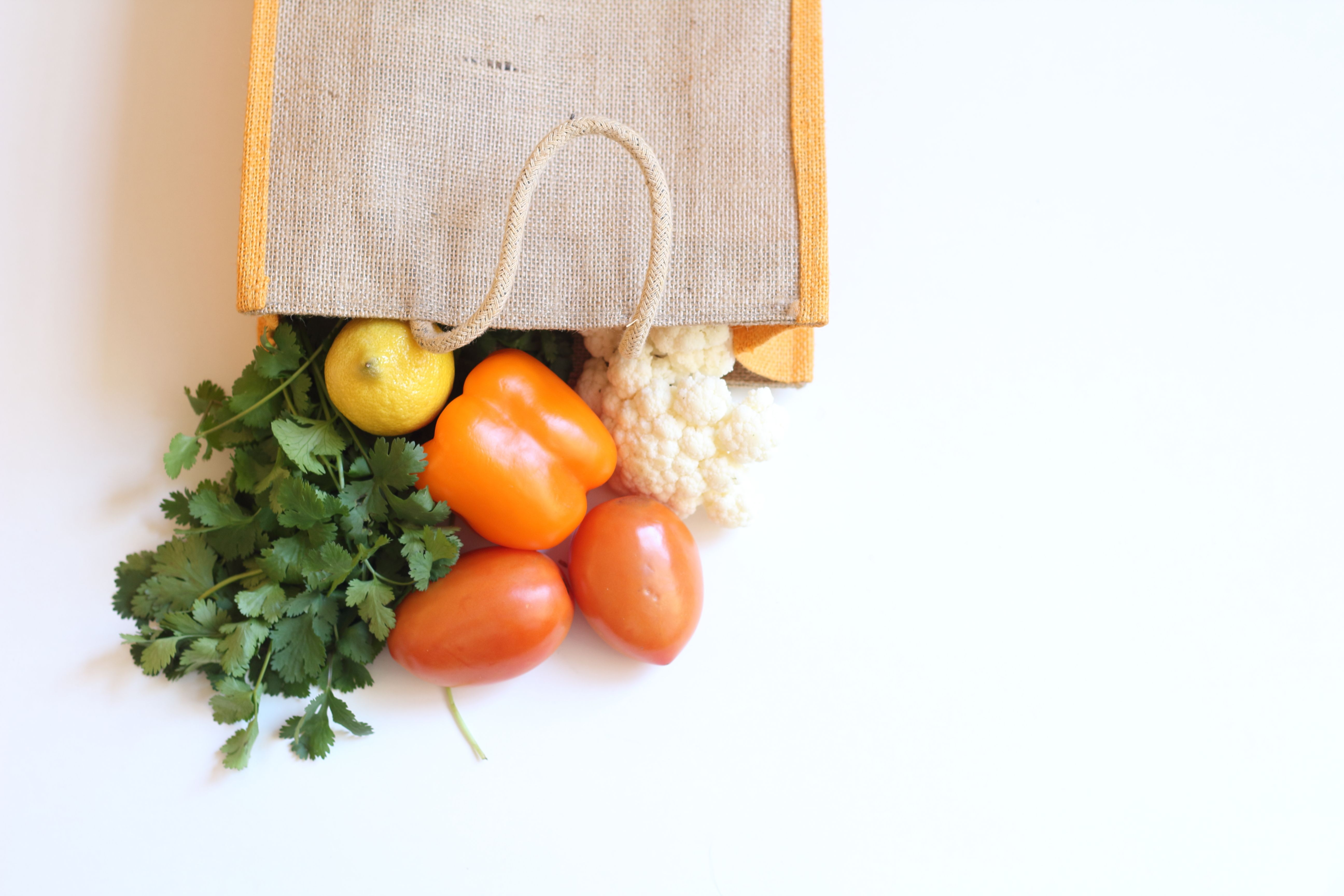 Let produce roam free in a larger bag.