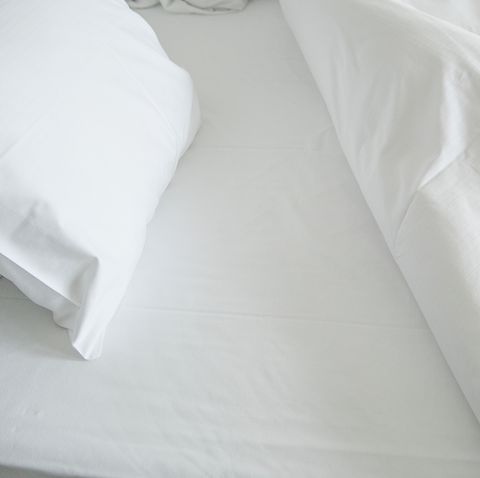 High Angle View Of White Bed