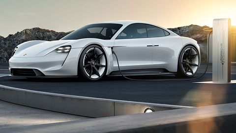 porsche taycan the porsche mission e electric car