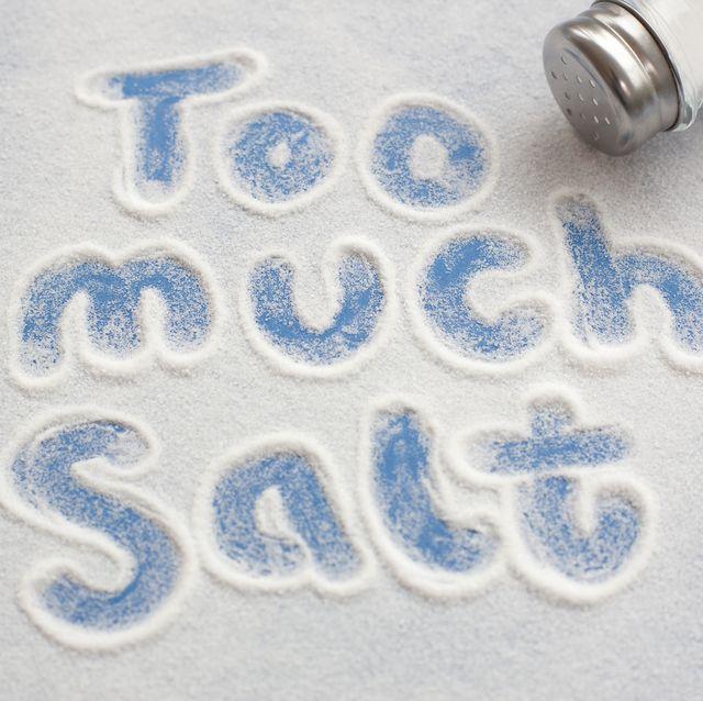High salt intake, conceptual image