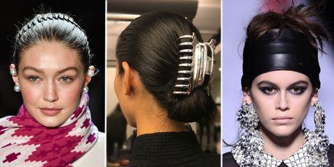 6e1bdebc1 High school hair accessories are now high fashion - NYFW AW18 hair ...