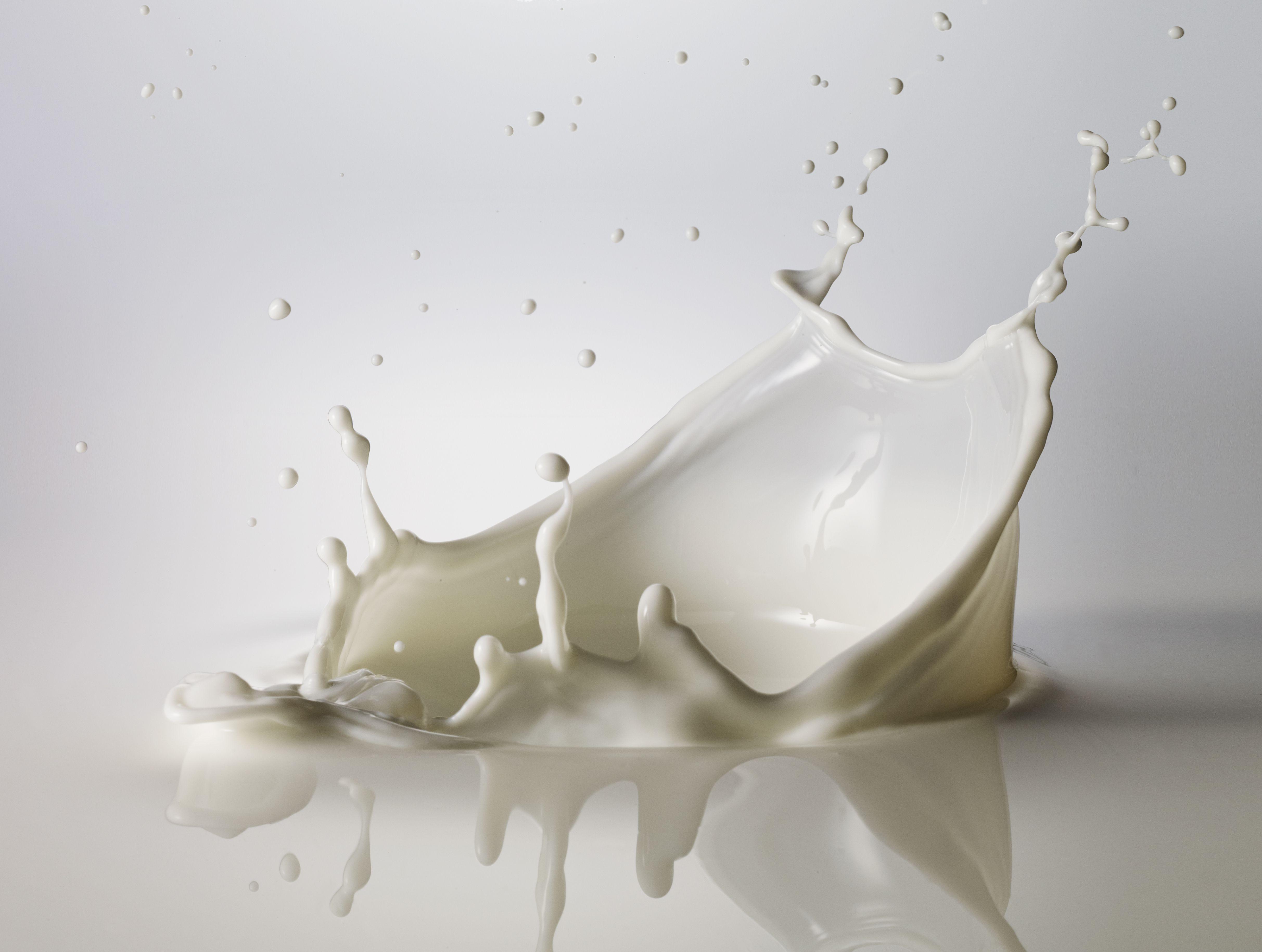 High speed image of splashing milk