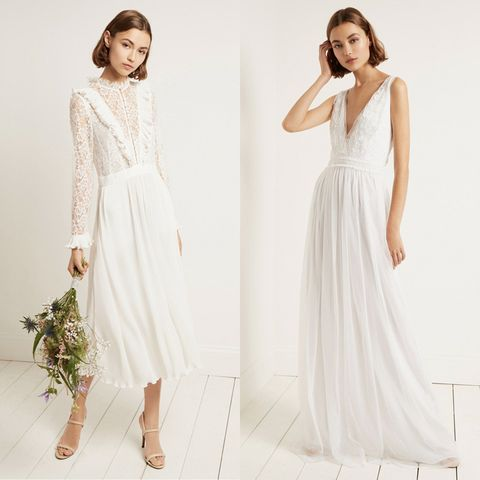 109f54ad 18 high street wedding dresses you'll love - high street brands that ...