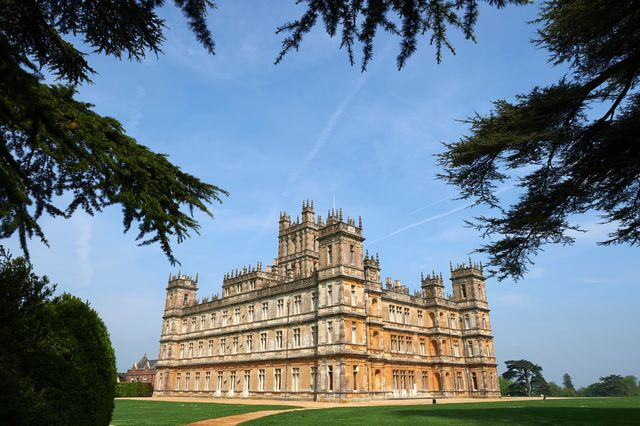highclere castle, which is often shown in downton abbey