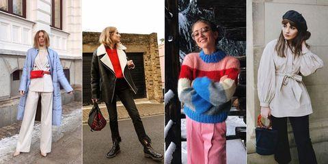 Fashion, Street fashion, Outerwear, Event, Blazer, Electric blue, Scarf, Fashion accessory, Style, Jacket,