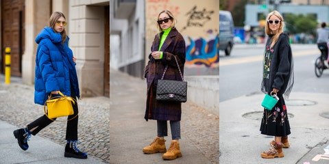 Street fashion, Fashion, Clothing, Yellow, Footwear, Design, Outerwear, Headgear, Electric blue, Shoe,