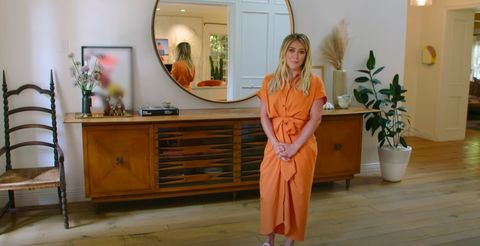 hilary duff gives tour of her family home