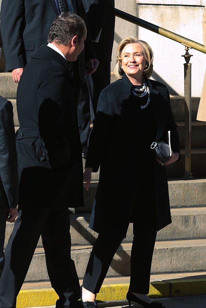 Hillary Clinton at Oscar de la Renta's funeral.