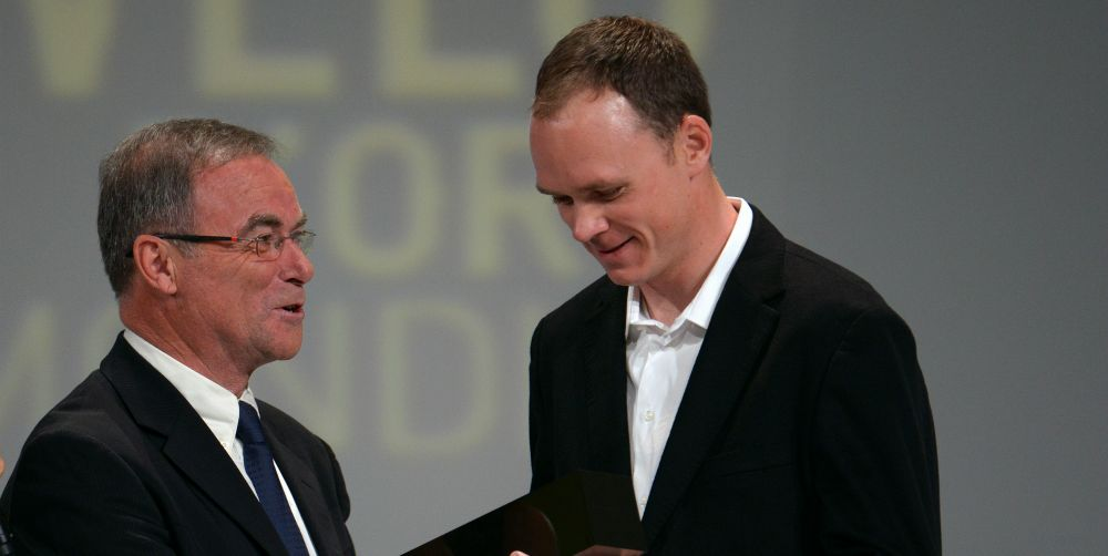 Bernard Hinault and Chris Froome