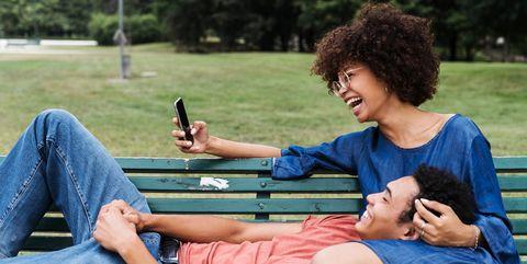 Sitting, Leisure, Fun, Grass, Friendship, Summer, Technology, Leg, Photography, Electronic device,