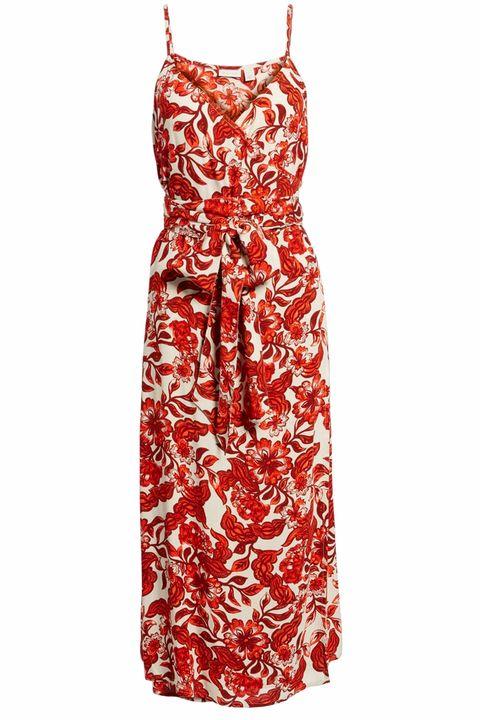 Courtesy Hinge Midi Wrap Dress