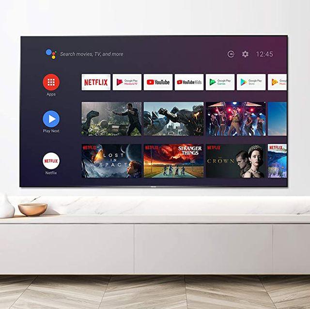 hisense smart tv hanging on wall