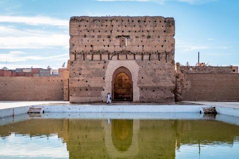 historic site of el badi palace in marrakesh morocco