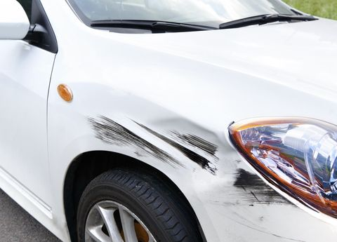 Hit and Run Crashed Car
