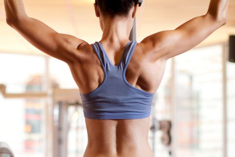 HIT,Woman doing exercise in fitnes club