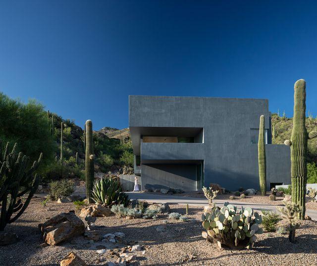 casa moderna nel deserto, arizona