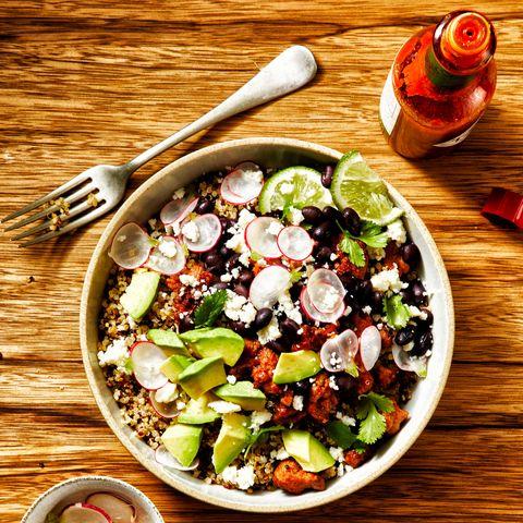 Dish, Food, Cuisine, Salad, Greek salad, Ingredient, Vegetable, Garden salad, Superfood, Produce,