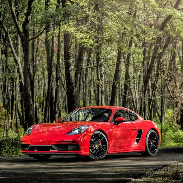 Land vehicle, Vehicle, Car, Sports car, Automotive design, Supercar, Red, Coupé, Performance car, Porsche,