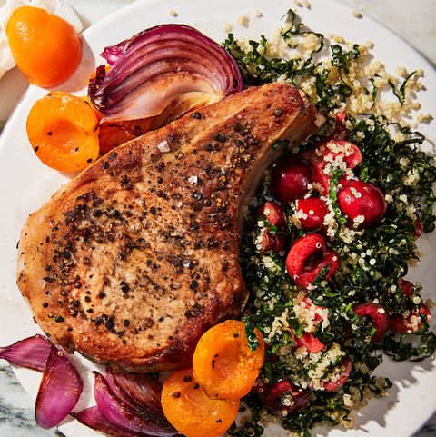 pork chops with cherries men's health