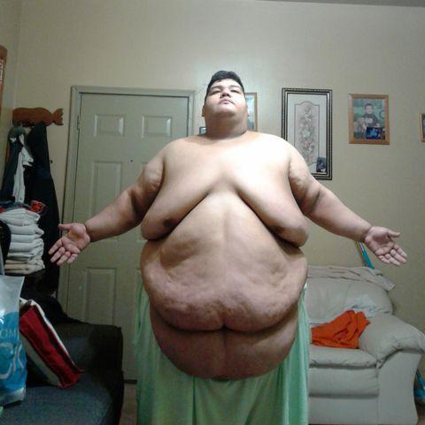 Ugly black fat guy