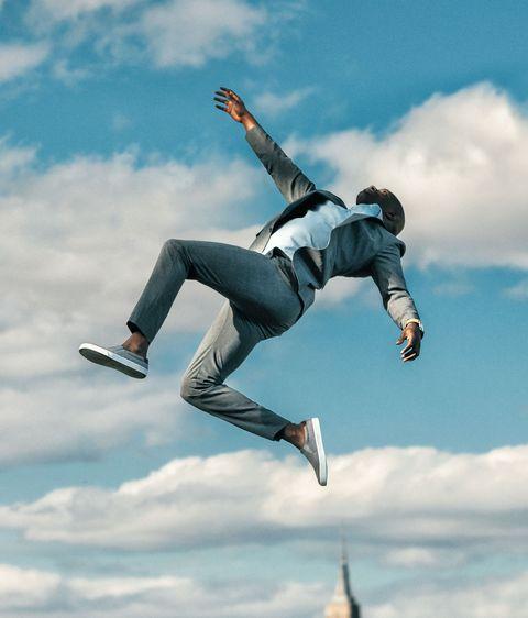 Jumping, Extreme sport, Sky, Tricking, Stunt performer, Recreation, Flip (acrobatic), Street stunts, Freestyle walking, Cloud,