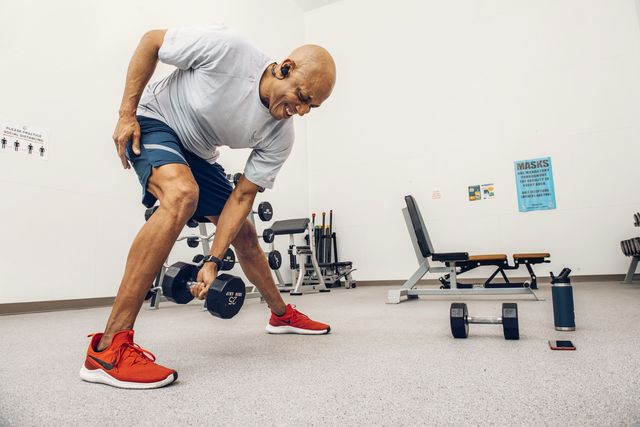 air force chief of staff general charles q brown jr enjoys circuit training and frequently relies on moves like lateral lunges