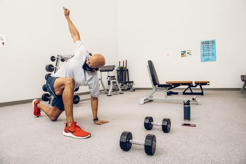 air force chief of staff, general charles q brown jr enjoys circuit training and frequently relies on moves like spiderman lunges