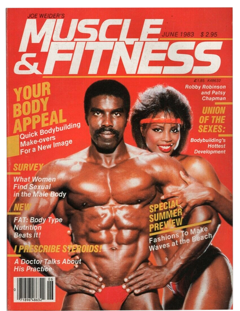 robby robinson on the cover of muscle mag muscle and fitness from june 1983