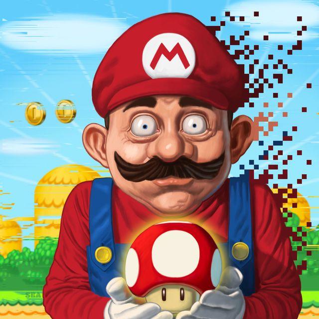 mario mushroom cartoon