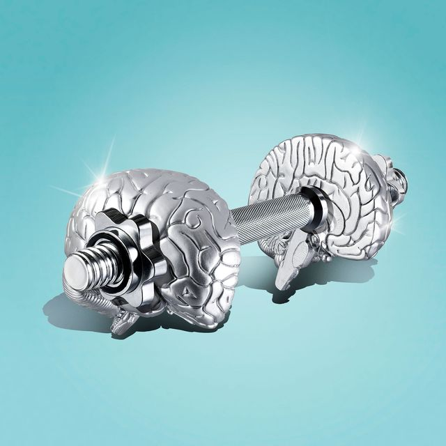 barbell with weights that look like brains