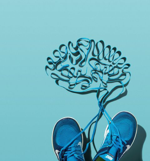 lace-up shoes describing a brain