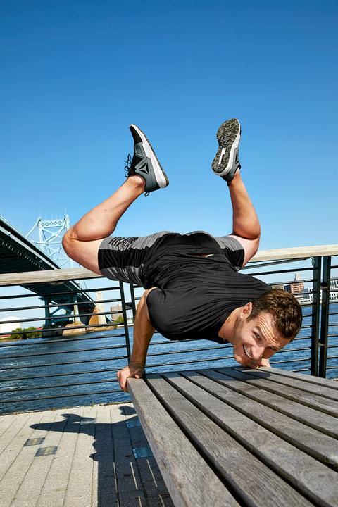Water, Dock, Dance, Flip (acrobatic), Street dance, Leg, Boardwalk, Muscle, Photography, Jumping,